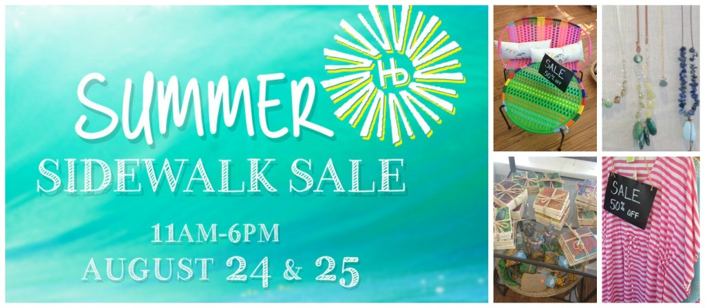 summer sidewalk sale collage
